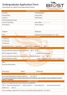 Biust Application For Undergraduates Study Guidebook Lcmb Paacr Caniracpuebla Com