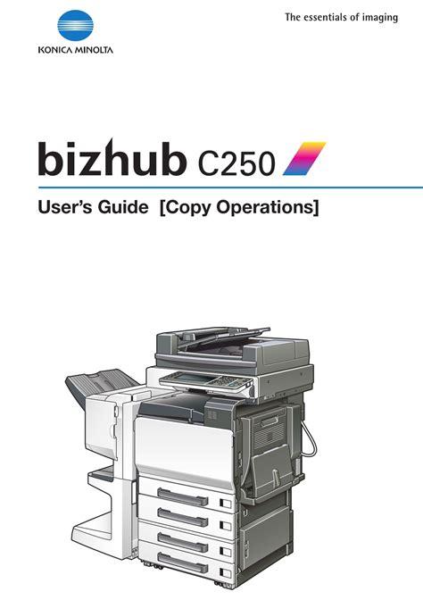 Bizhub C250 User Manual