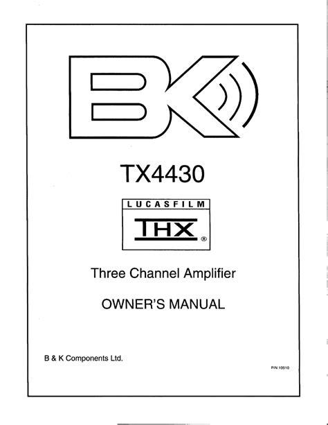 Bk Tx4430 User Guide