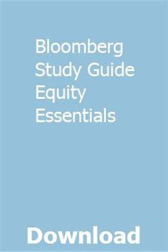 Bloomberg Study Guide