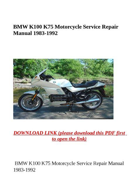 Bmw K100 K75 1983 1992 Service Repair Manual