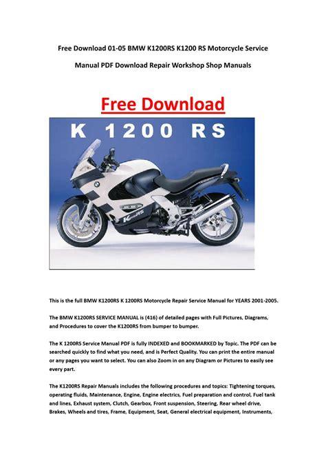Bmw K1200 Rs Service And Repair Manual 2001 2006 Spanish
