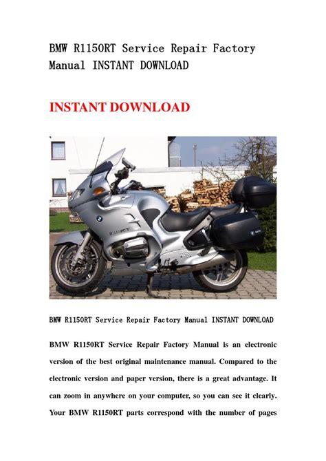Bmw R1150rt Maintenance Manual