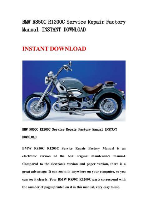 Bmw R850c Factory Service Repair Manual