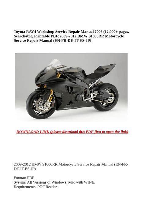 Bmw S1000rr Repair Manual