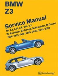 Bmw Z3 And M Roadster And Z3 And M Coupe Service Manual 1996 2002 4 And 6 Cylinder Covers 1 9 2 3 2 5i 2 8 3 0i And 3 2 Engines