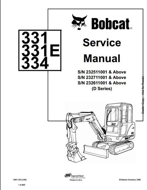 Bobcat 331e Manual