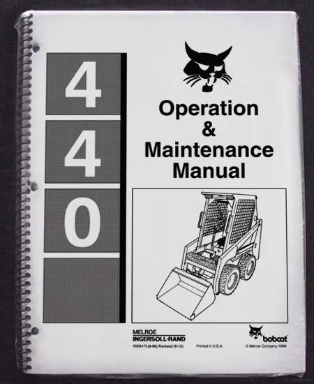 Bobcat 440 Owners Manual