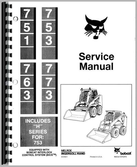 Bobcat 753 Owners Manual