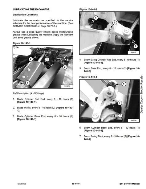 Bobcat E14 Manual