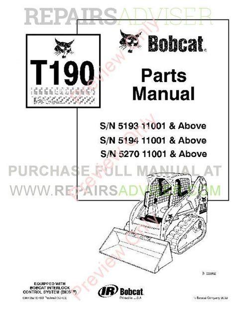 Bobcat T190 Manuals