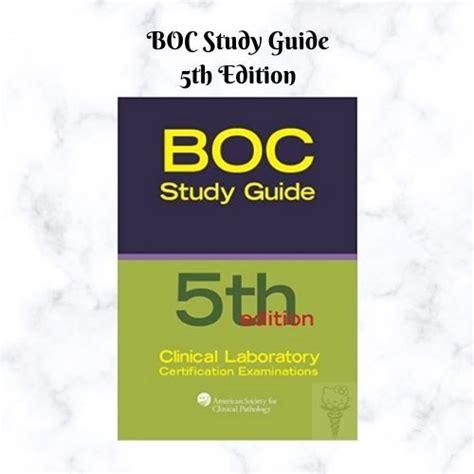 Boc Study Guide 5th