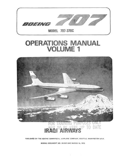 Boeing 707 Operations Manual