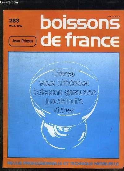 Boissons De France N 283 Mars 1985 Bieres