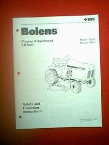 Bolens Mower Deck Manual