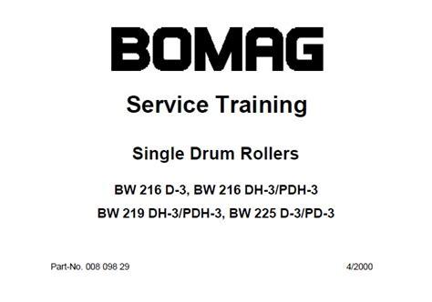 Bomag Bw 216 Bw 219 Bw 225 Service Training Manual