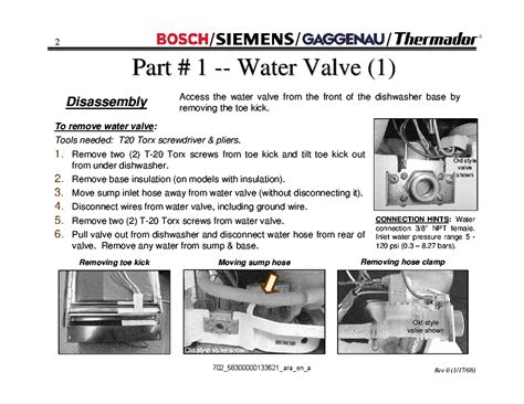 Bosch Dishwasher Training Repair Manual