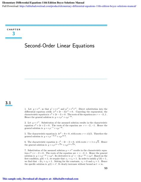 Boyce Elementary Differential Equations Bvp Solutions Manual