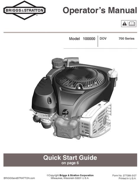 Briggs And Stratton 100000 Maintenance Manual