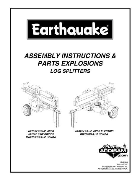 Briggs And Stratton Earthquake Manual