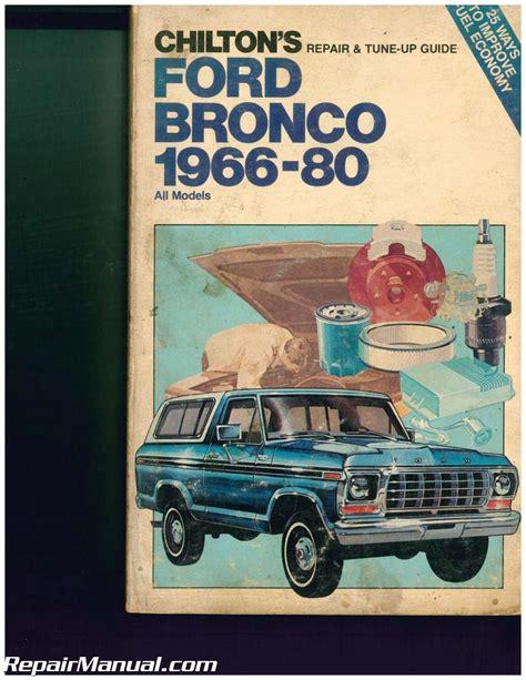 Bronco Repair Manual