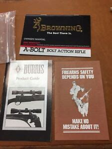 Browning A Bolt Owner Manual