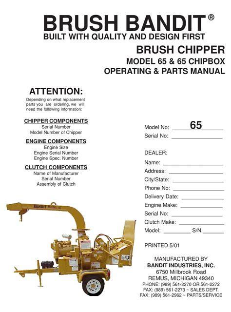 Brush Bandit 65 Manual