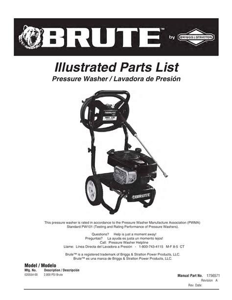 Brute 2800 Psi Pressure Washer Manual