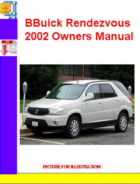 Buick Rendezvous 2002 Repair Manual