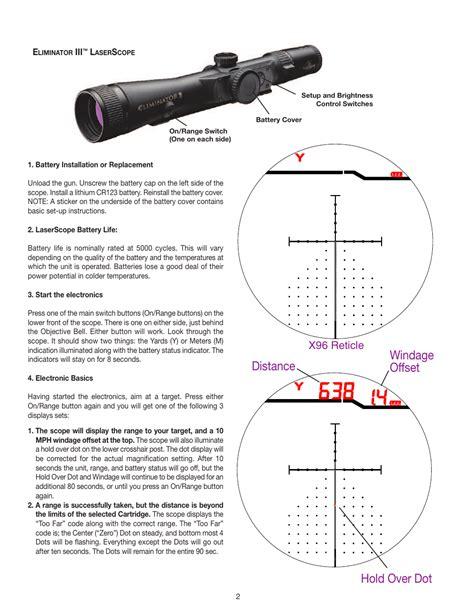 Burris Eliminator 3 Manual