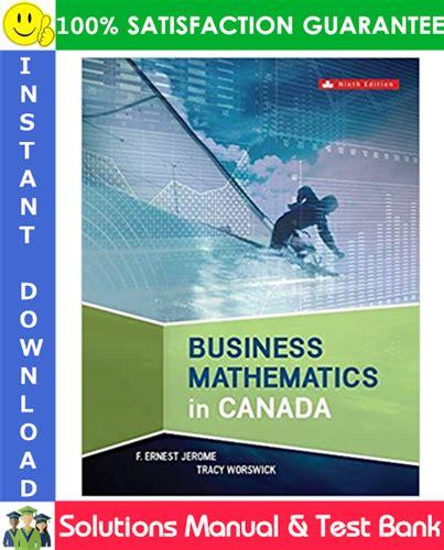 Business Math Ninth Edition Solution Manual