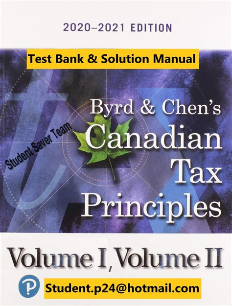 Byrd And Chen Tax Principles Solutions Manual