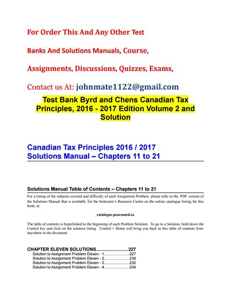 Byrd Chen Canadian Tax Solution Guide