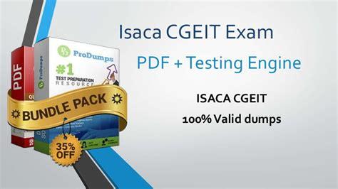 CGEIT Latest Study Plan