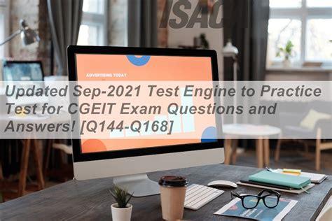 CGEIT Testing Engine