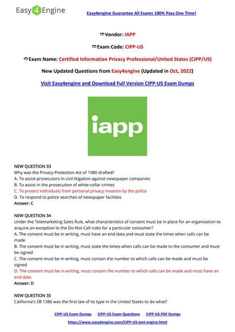 CIPP-A Exam Fragen