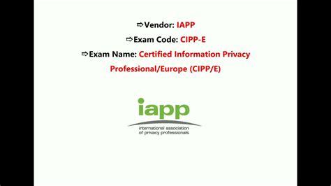 CIPP-E Exam Fragen