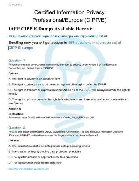 CIPP-E PDF