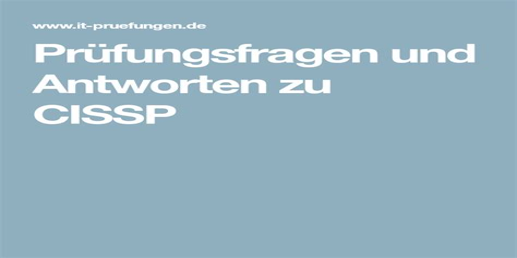 CISSP Originale Fragen