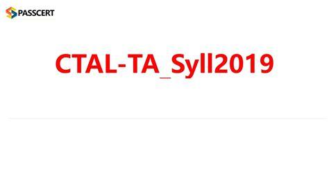 CTAL-TTA_Syll2019_UK Exam Practice