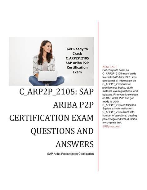C_ARP2P_2105 Fragen Und Antworten