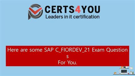 C_FIORDEV_21 Reliable Exam Blueprint