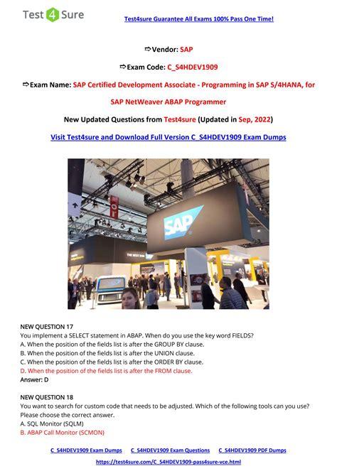 C_S4HDEV1909 Online Test
