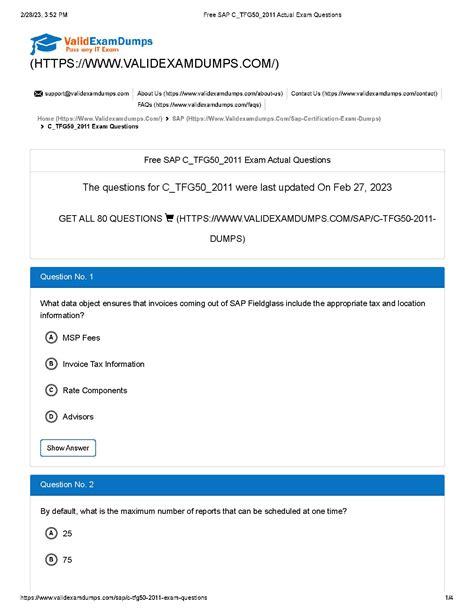 C_TFG50_2011 Exam Answers
