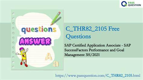 C_THR82_2105 Fragen&Antworten