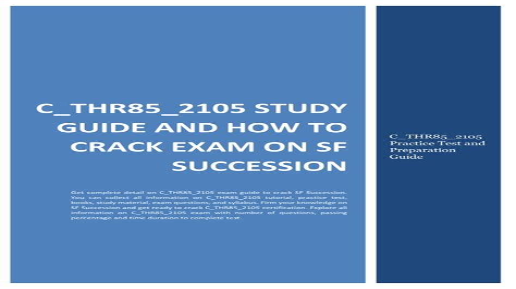 C_THR85_2105 Exam Cram Questions