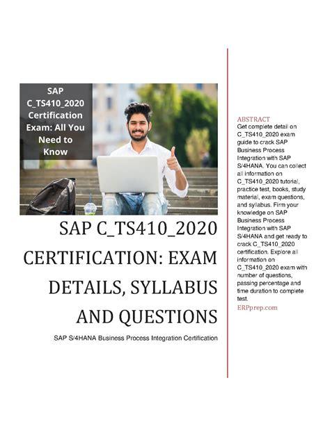 C_TS410_2020 Trustworthy Exam Torrent