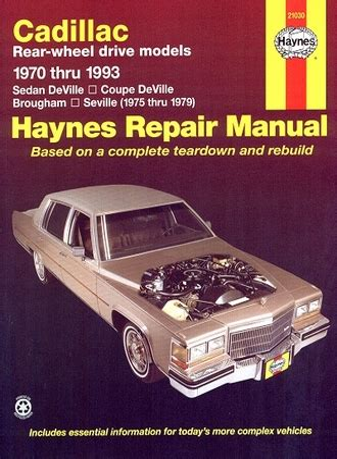 Cadillac Deville Repair Manual 1970