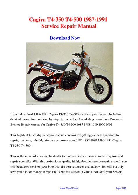 Cagiva T4 350 500 1987 Factory Service Repair Manual