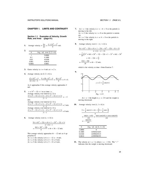 Calculus Answers Solutions Manual